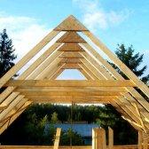 Як зробити каркас даху