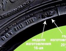 Як визначити рік випуску шини