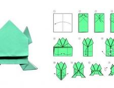 Як зробити жабу з паперу самому